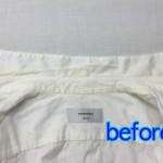 綿のデザインシャツ 黄ばみ